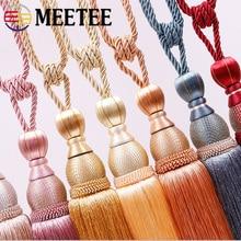 Meetee 1 par (2 uds.) 77cm cortina borla Tieback colgante accesorios bola cortina soporte colgante cinturón para decoración del hogar TF001