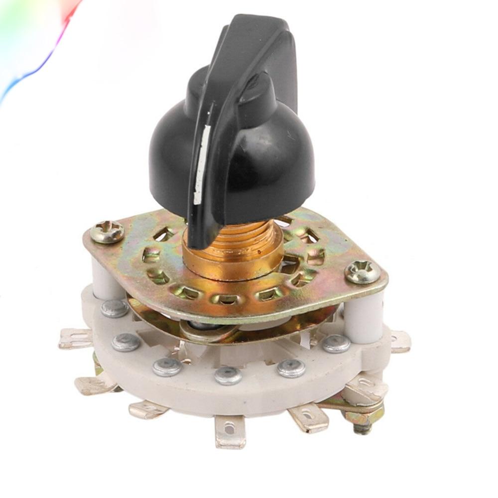 KCZ 1 polo 6/7/8/9/10 posición interruptor rotativo de canal de banda Selector con tapa