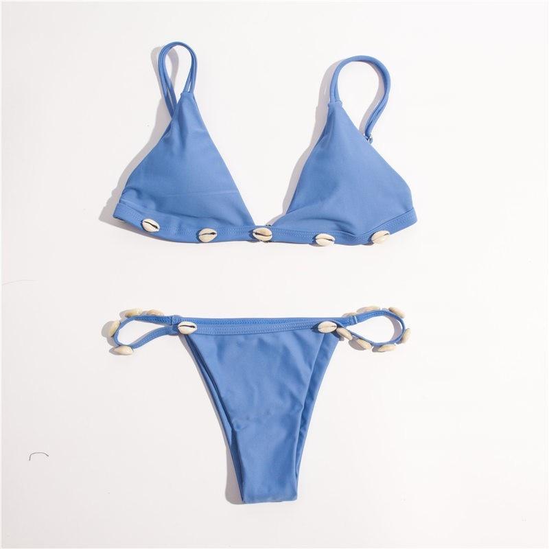 Neue Sexy Schalen Micro Bikini 2019 Frauen Schwimmen Anzug Brasilianische tanga Bikini Set Push Up Solid Bademode Badeanzug Maillot