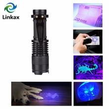 Zoomable-led UV Taschenlampe CREE LED UV taschenlampe Ultra Violet Licht Schwarzlicht UV Lampe 14500 Batterie LED Licht lanterna