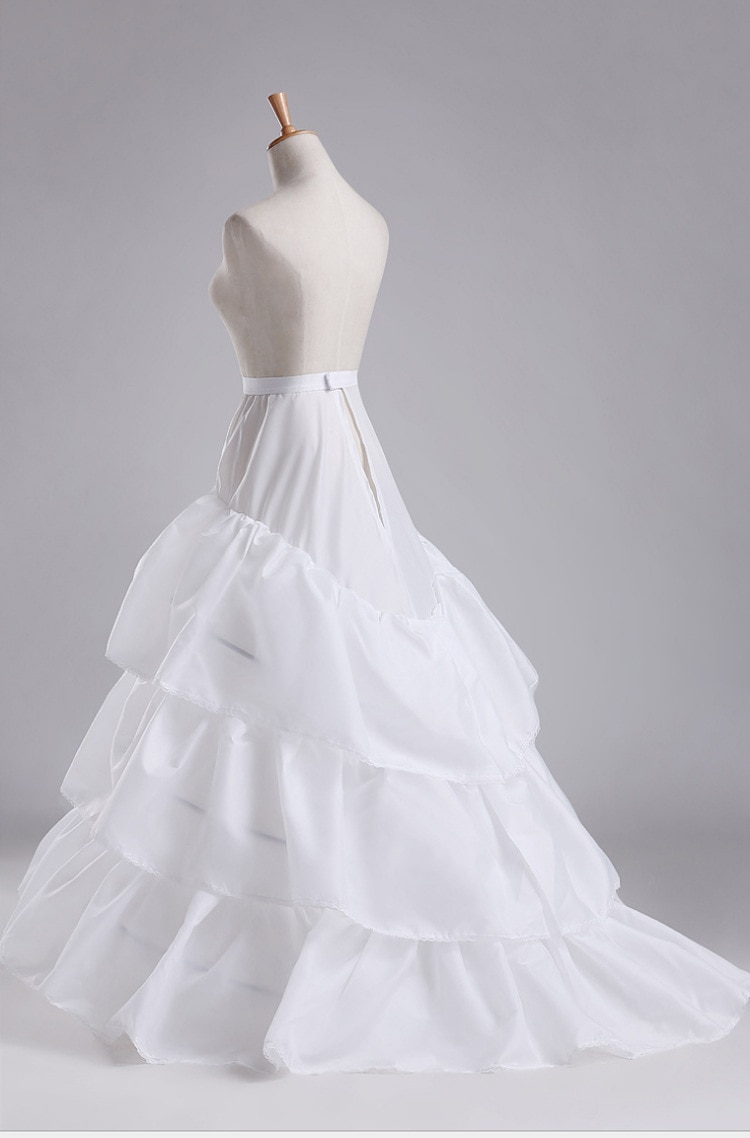 Free Size 3 Hoops A-Line 3 Layers Underskirt White Petticoats Cheap Bridal Accessories Crinolines Petticoat