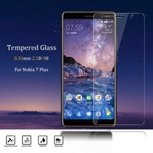 for Nokia 7 Plus Tempered Glass 2.5D 0.33MM Ultra Slim Clear Screen Protector front glass film for N