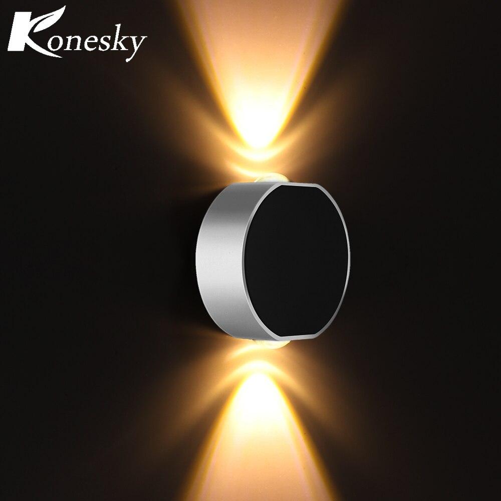 Lámpara de Pared Led magnética 6W AC 85-265 V, lámpara de Pared, Apliques, lámparas de Pared, aplique de Pared LED para dormitorio, Bar, cafetería