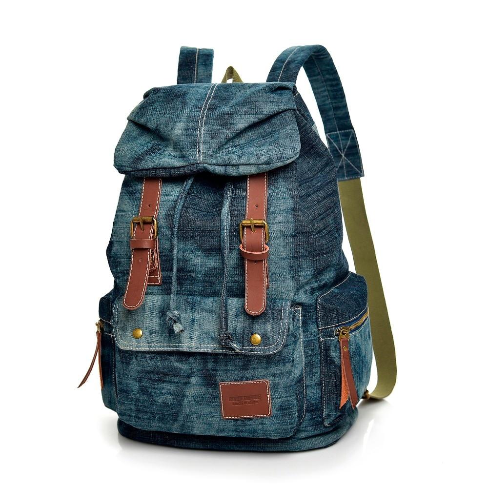 حقيبة ظهر عصرية ذات علامة تجارية عالية الجودة للرجال والنساء ، حقيبة سفر من الدنيم ، حقيبة كمبيوتر محمول متعددة الوظائف ، mochila ، 2021