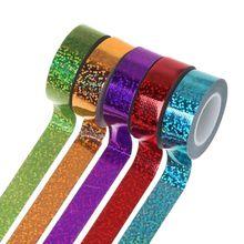 Rhythmic Gymnastics Decoration Holographic Glitter Tape Ring Artistic Stick Accessories