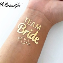 1Pcs Braut Temporäre Tattoo Bachelorette Party braut tribe Flash Tattoos Brautjungfer geschenk braut dusche hochzeit dekoration