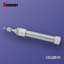 SUMRAY cylindre pneumatique Type CDJ2B   Alésage 5/10/15/20/25/30/35/40-100mm, course, acier inoxydable, Mini cylindre dair pneumatique