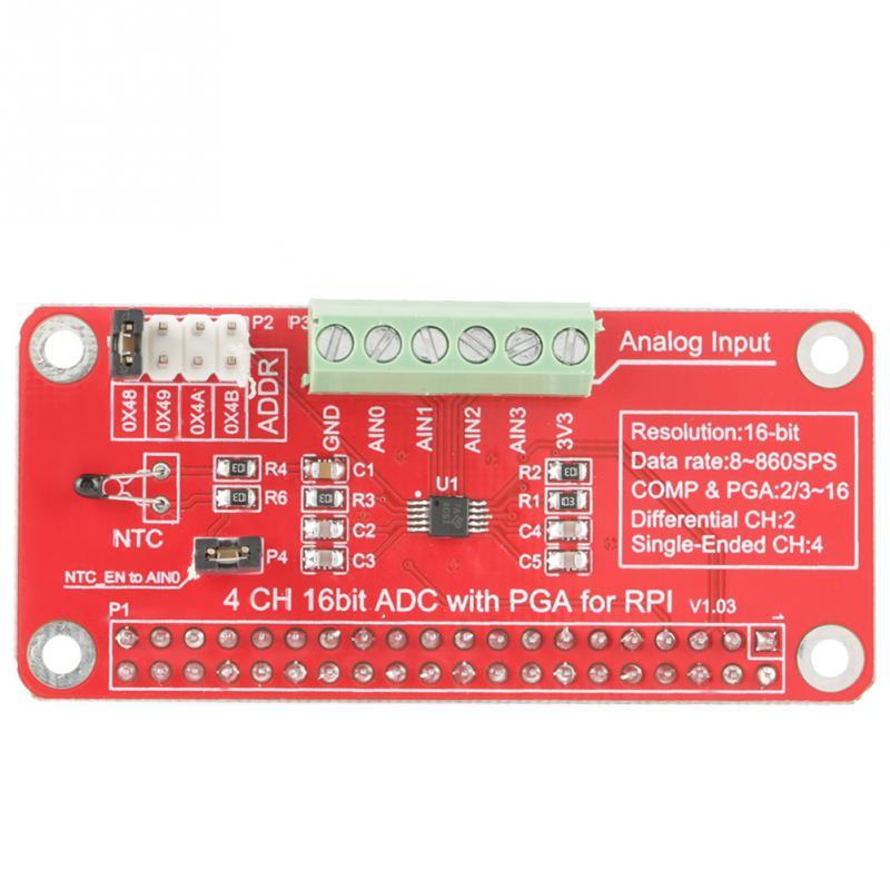 1 pc ADS1115 Módulo ADC 16-Bit ADC ADC Analógico para Digital Conversor Módulo para Raspberry Pi 3/2/B +
