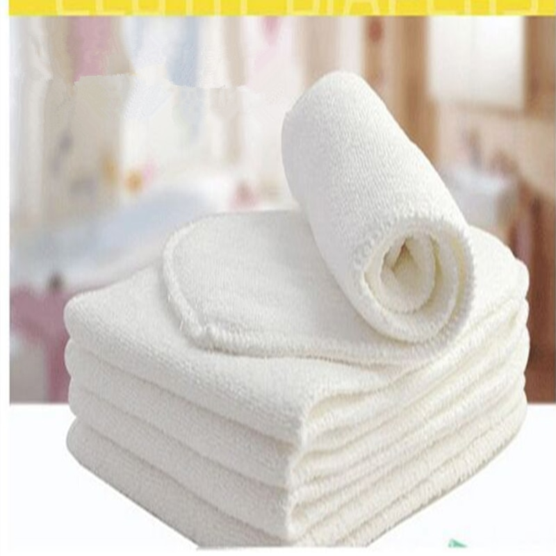 4 Uds 2 capas/pañal de tela para Bebé/insertos de pañal/pañales lavables/microfibra reutilizable Ftrx0011