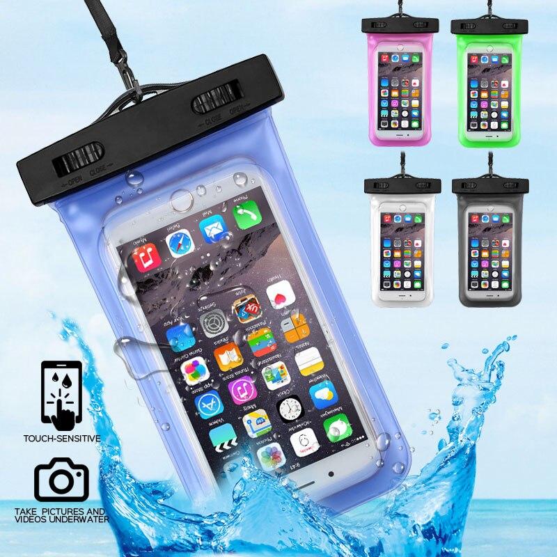 360 graus selado à prova dwaterproof água caso do telefone móvel bolsa para o iphone x xs 8 7 6 6 sunderwater coque saco seco capa natação sacos de telefone