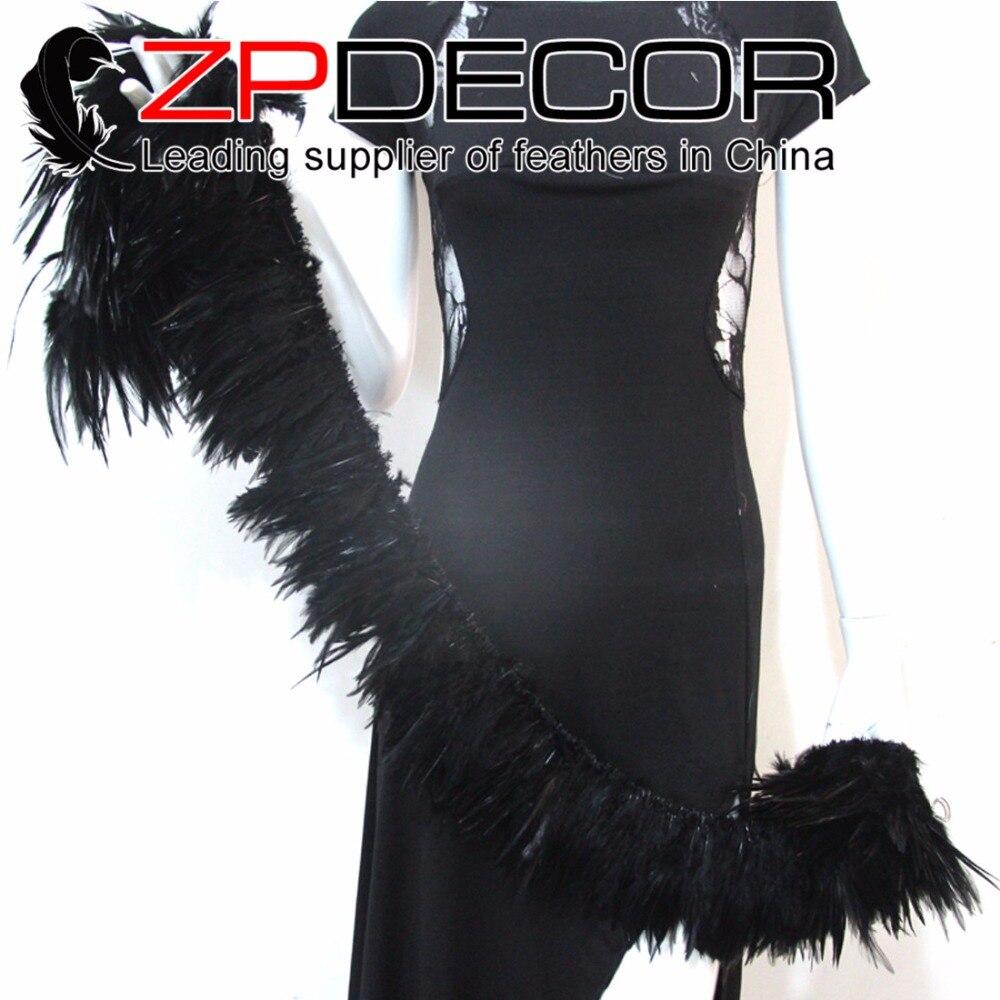 ZPDECOR 700-800 шт/пачка 4-6 дюймов черный оптом натянутое седло для петуха перья для карнавала и свадьбы украшения