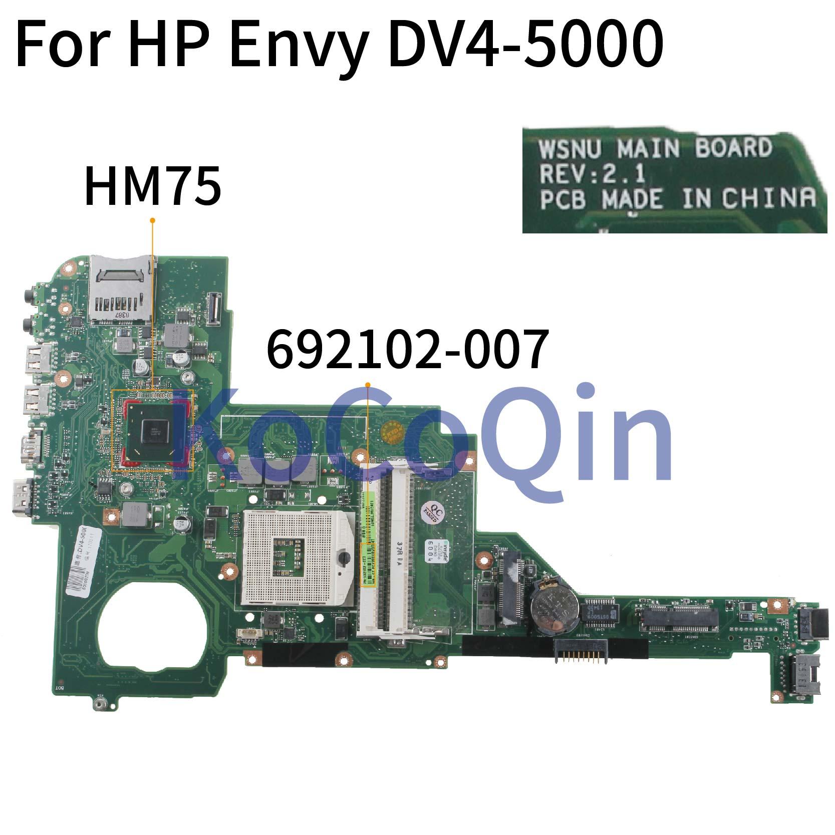 KoCoQin اللوحة لابتوب HP جناح DV4 DV4-5000 اللوحة 676756-501 676756-001 HM75