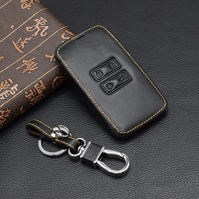Genuine Leather car key cover case set protect for Renault TALISMAN CAPTUR Espace Clio Megane Koleos card remot Car-styling