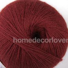 400m Dark Red Soft Kaschmir Wolle Stricken Handwerk Garn Handwerk Pullover schal Machen