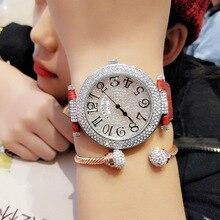 Frauen Uhren Lederband Kristall Quarzuhr Frau Casual Damen Weibliche Uhr Dame Armbanduhr Für Frauen Relogio Feminino