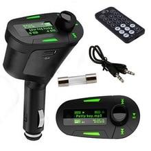 Transmetteur FM sans fil lecteur musique MP3   Kit de voiture, modulateur de Radio avec USB MMC + télécommande