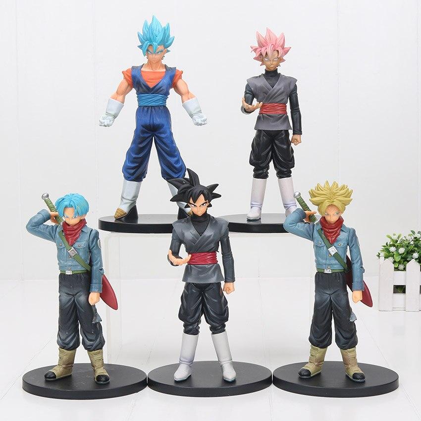 Dragon Ball Super Figure DXF The Super Saiyan Goku Black Trunks Vegetto Black Pink Hair Goku Action Figure