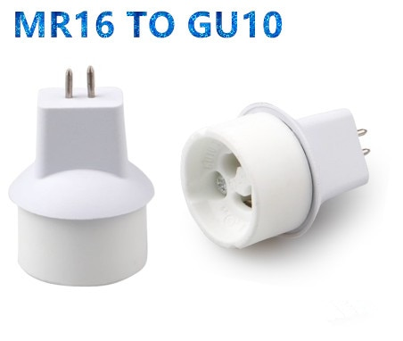 10/lote MR16 GU10 a MR16 convertidor adaptador de lámpara adaptador macho a hembra GU10 GU10 MR16 convertidor de base de lámpara