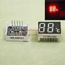 Pantalla Digital LED de 0,4 pulgadas, 10 pines, ánodo común con unidad de grado de temperatura Celsius, rojo, 2 dígitos, 7 segmentos, 10 unids/lote