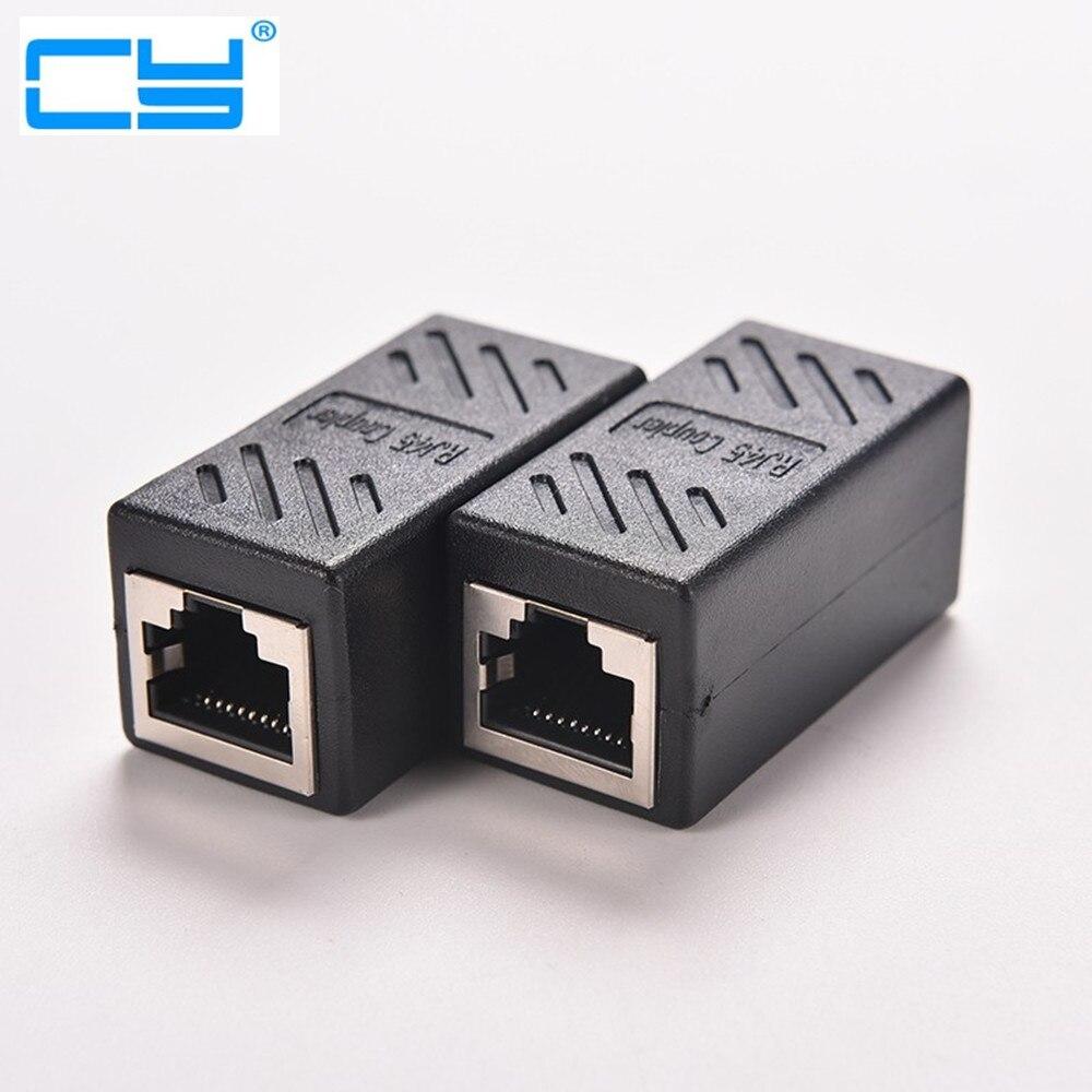 Adaptador de red Ethernet para Femea, Adaptador De red LAN, RJ45, Cabo...