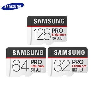 Новый SAMSUNG карта памяти Micro SD карта PRO выносливость 100 МБ/с. 128 Гб 64 Гб оперативной памяти, 32 Гб встроенной памяти SDXC карты памяти SDHC класса 10 TF карты UHS-I флеш-карта
