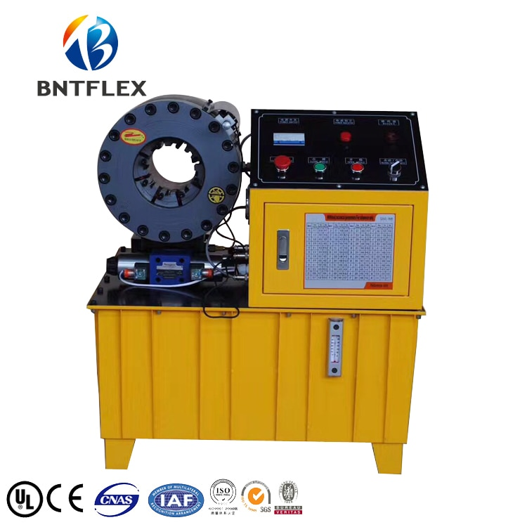 Transport vers la russie seulement BNT51F type 380 v 220 V 3kw jaune 51mm hydraulique tuyau presse/frein tuyau sertissage machine