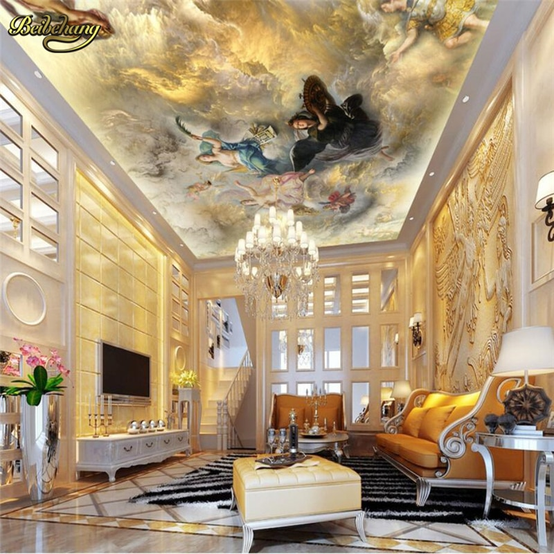 beibehang Custom Oil painting ceiling Photo Wall Paper Murals Living Room Bedroom Sofa TV Background Decor Mural Wallpaper
