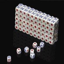 100 pcs 표준 플라스틱 주사위 고품질 플라스틱 10mm 흰색 6 양면 결정자 rpg 도박 게임 재미 있은 장난감 도구 bauble