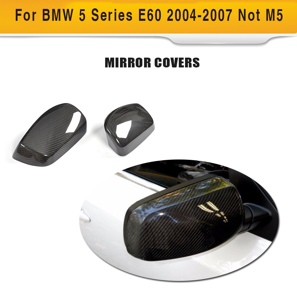 Cubierta trasera de fibra de carbono seco de la tapa del espejo del coche para BMW 5 Series E60 Sedan 4 puertas 2004-2007 no M5