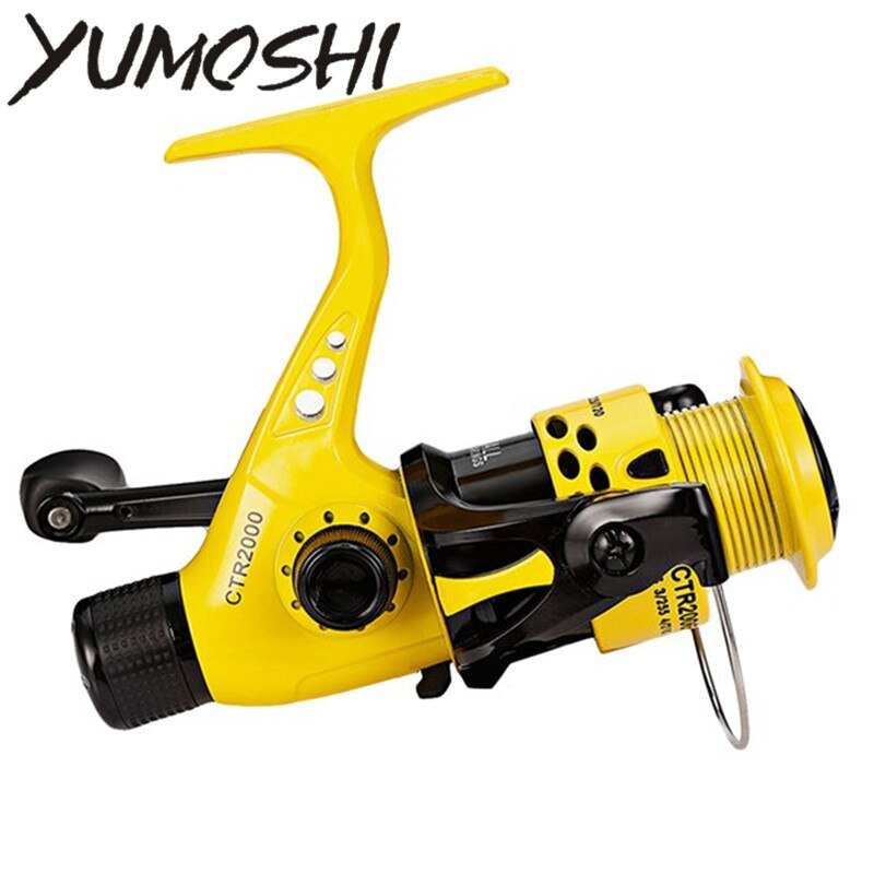 YUMOSHI 12BB Fishing Reel CTR2000-7000 5.5:1 Foldable Arm Rocker Spinning Reel Lightweight Rear Drag Spool Fish Spinning Wheels