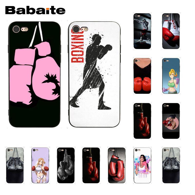 Боксерские перчатки для девочек Babaite, чехол для телефона iphone 11 Pro 11Pro Max 8 7 6 6S Plus X XS MAX 5 5S SE XR