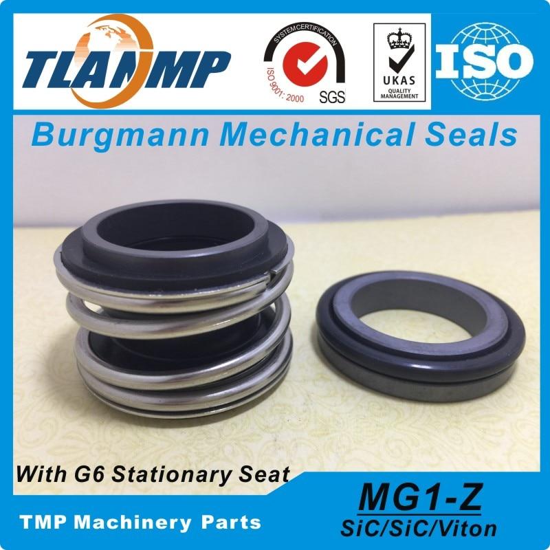 Mg1/65-z, MG1-65/g6 burgmann selos mecânicos fole de borracha com assento estacionário g6 (material sic/sic/vit)