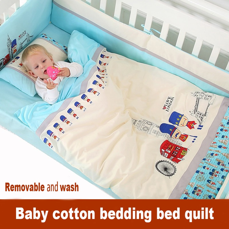 Jogo de cama do bebê recém-nascido em torno da cama 100% algodão quilt desmontagem peça conjunto 100% algodão outono e inverno