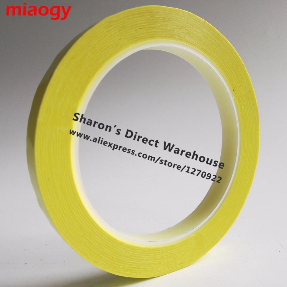 66 metros/rollo, cinta Mylar de aislamiento adhesivo de 5mm ~ 28mm de ancho para transformador, Motor, condensador, envoltura de bobina, amarillo Anti-llama