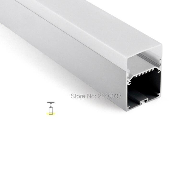 50 X 2M Sets/Lot U shape led strip channel Square type aluminium profile led light with driver place for suspending light