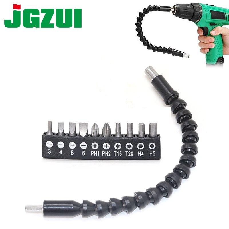 2 шт. 290 мм гибкий инструмент вала, Электронная дрель, отвертка, держатель бит, соединение, Multitul, шестигранный хвостовик, удлинитель, змея бит