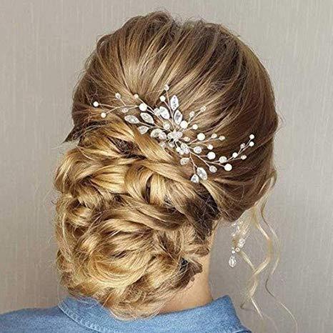 TOPQUEEN HP103-1 joyería para el pelo de novia Tiara de la boda broches para boda tocado de boda horquillas nupciales accesorios para el cabello de boda
