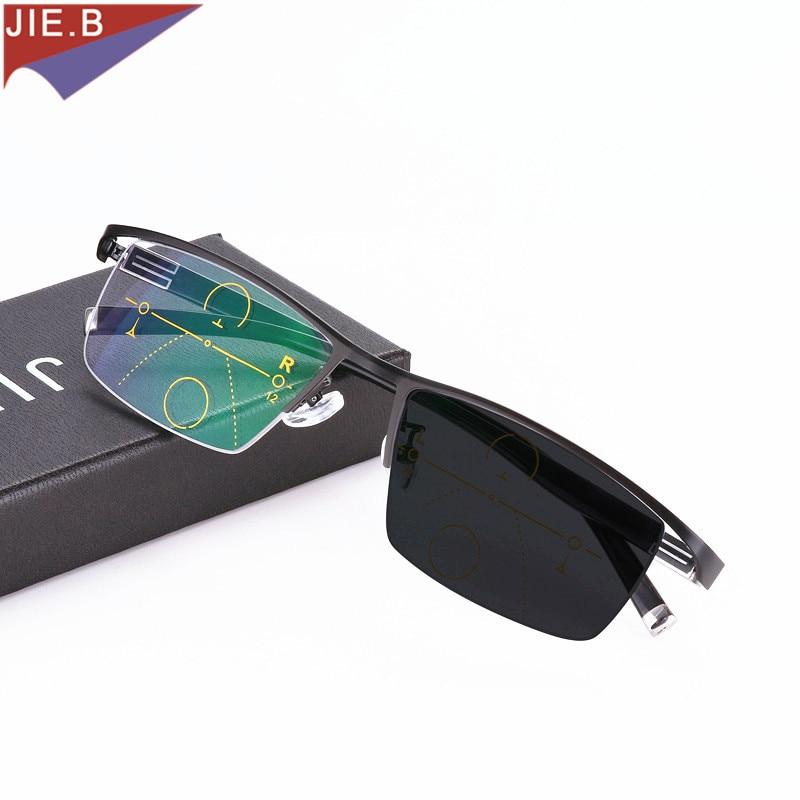 Солнцезащитные очки, модные, фотохромные, прогрессивные очки для чтения, мужские, Мультифокальные очки для чтения, дальность обзора