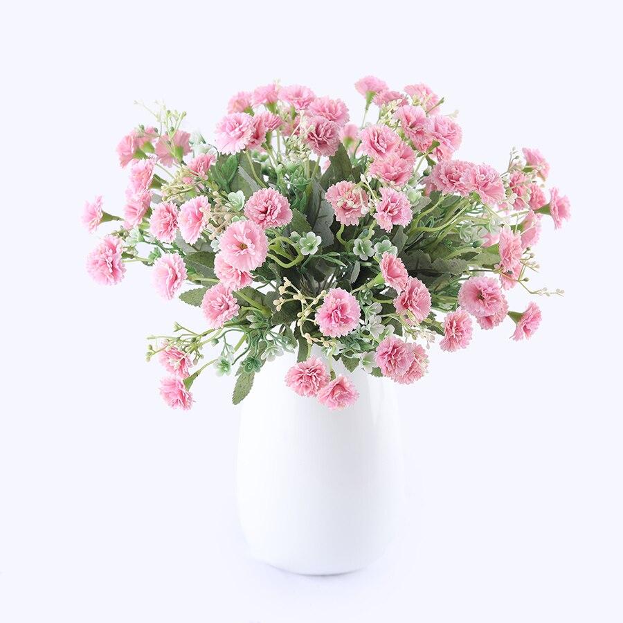 15 Heads Artificial Silk White Snowflake Small Lilac Flowers Babysbreath for Wedding Home Decoration Gypsophila Christmas decor
