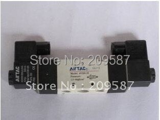 "1x 4V220-08 5Ports2Position Double Solenoid Pneumatic Air Valve 1/4"" BSPT DC12V"
