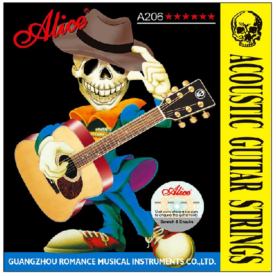 5 Juegos de cuerdas de guitarra acústica Alice serie A206 cuerdas de guitarra profesional parte de accesorios de guitarra