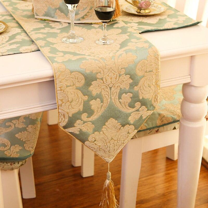 مفرش طاولة مطرز بعلم ، بسيط ، عصري ، منقوش ، سميك جدًا ، ريفي ، أمريكي ، فيروزي