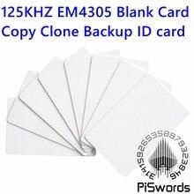 Rfid-kaart EM4305 blank 125 kHz RFID card ID-KAART Leesbaar Writable Rewrite voor copy clone backup id-kaart