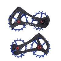 17T Carbon Fiber Bike Rear Derailleur Pulleys 68g Ultralight Ceramic Bearing Bicycle Jockey Wheel For Shimao Ultegra Bike Parts