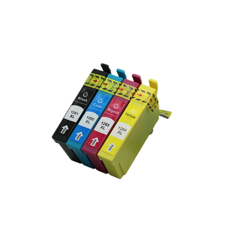 4 stücke Patrone Luocai für Epson T1281-1284 Stylus SX125 SX130 SX420W SX235W SX440W SX430W SX425W SX435W SX438 SX445W S22 Drucker
