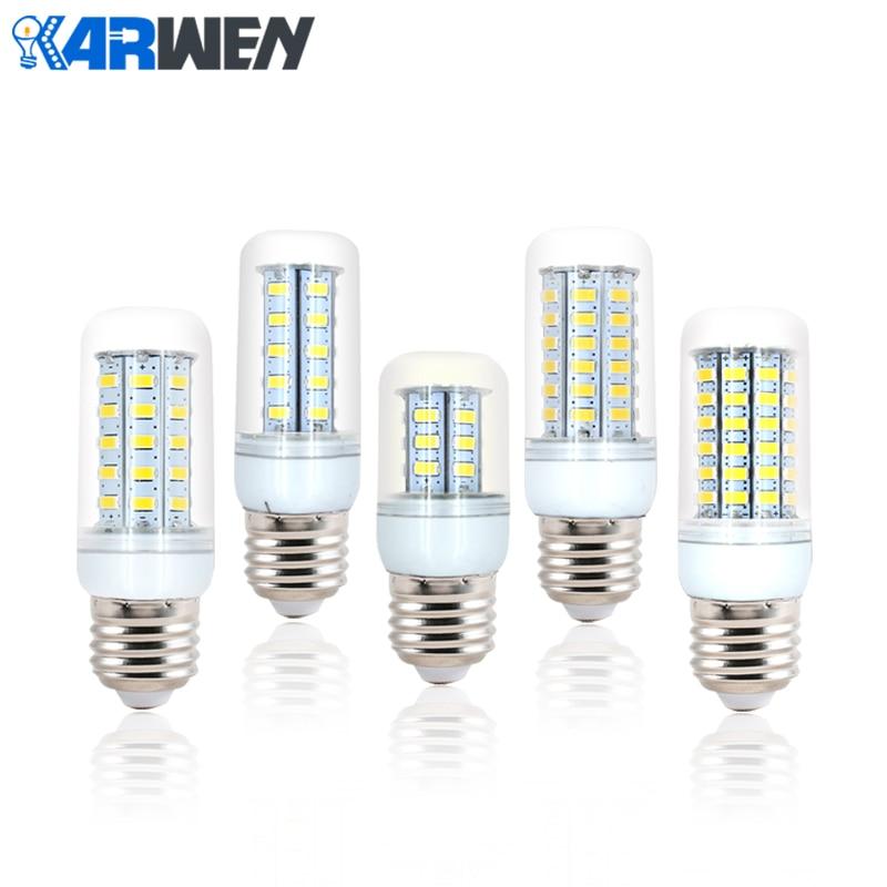 Светодиодная лампа KARWEN E27 SMD 5730, 220 В, 24, 36, 48, 56, 69 светодиодов