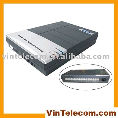 China pbx fábrica suministro directo CS308 MINI/SOHO PABX 3 líneas x 8 extensiones