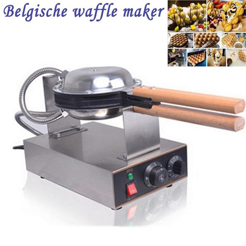Máquina eléctrica comercial China de Hong Kong para hacer Waffle de huevo de soplo de hierro horno de masa semiesférica 220 V/110 V disponible
