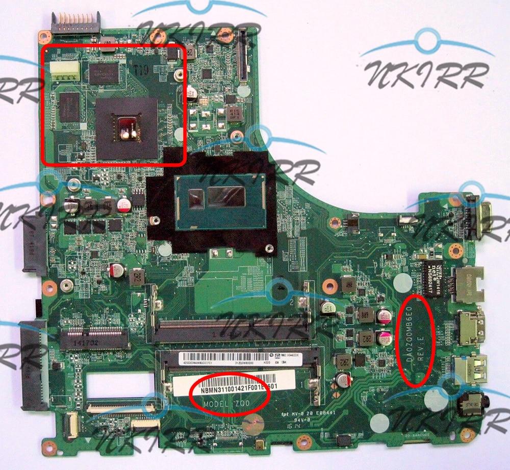 DA0ZQ0MB6E0 ZQ0 NBV9U11001 NBMN111004 I7 CPU GT820M 2G DDR3 motherboard para Acer Aspire E5-471 E5-471G V3-472 V3-472P
