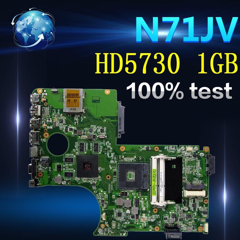 Apoio i7 CPU laptop Mainboard Para For Asus N71J Amazoon N71JA N71JQ Motherboard com HD5730 1 GB de Memória de Vídeo